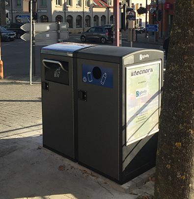 poubelle solaire Bigbelly double pour le triage & recyclage publique