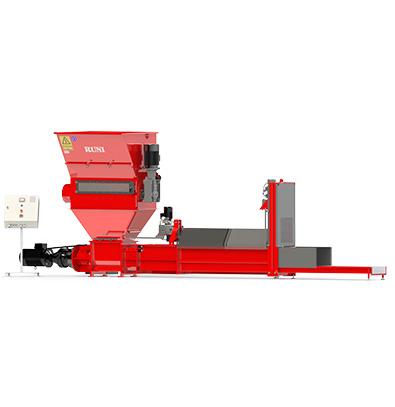 Compacteur à vis Runi SK370 pour grandes quantités de matière